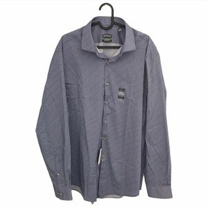 Van Heusen Blue Casual Button Down Dress Shirt